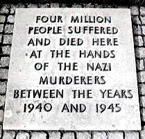 Auschwitz stone plaque 4 million