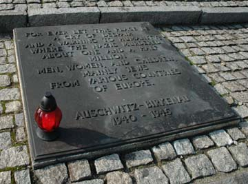 Auschwitz stone plaque 1.5 million